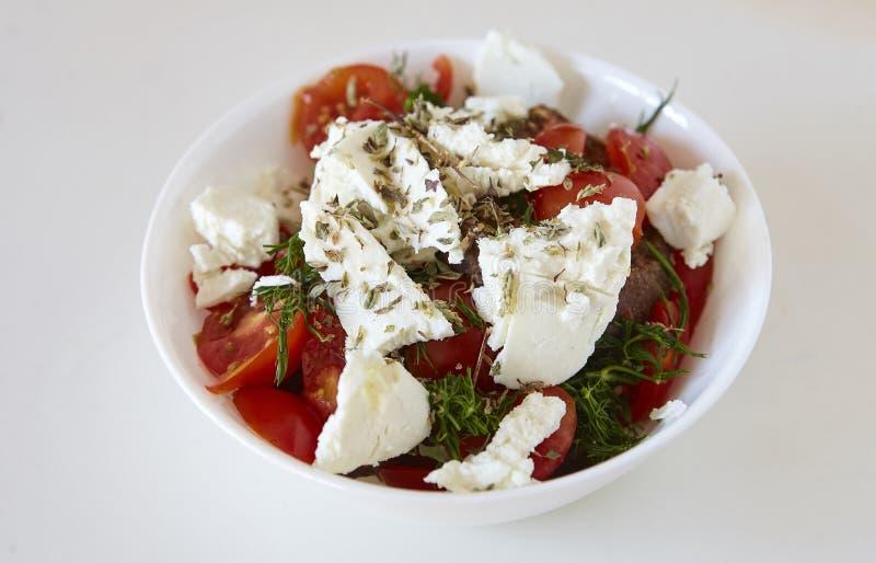 Dakos, ελληνική σαλάτα, κρητική σαλάτα στοκ φωτογραφίες