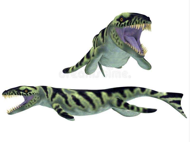 Dakosaurus op Wit vector illustratie