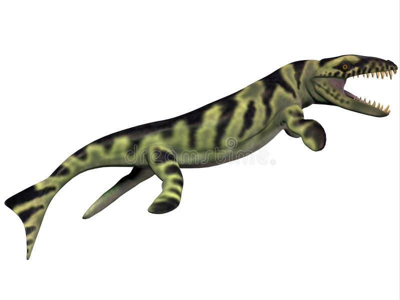 Dakosaurusprofiel royalty-vrije illustratie