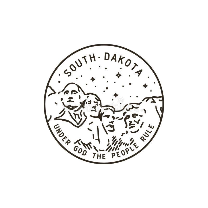 Dakota del Sur rushmore stock de ilustración