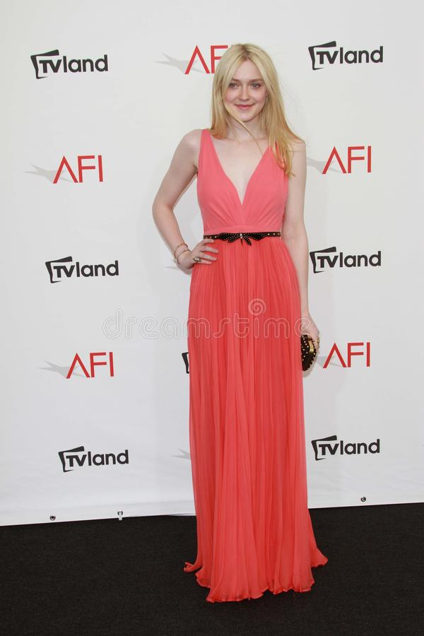 Dakota Fanning at the AFI Life Achievement Award Honoring Shirley MacLaine, Sony Pictures Studios, Culver City, CA 06-07-12 royalty free stock photography