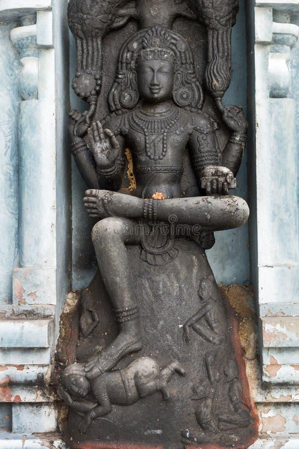 Dakshinamurthy au temple de colline de Rathinagiri. image libre de droits