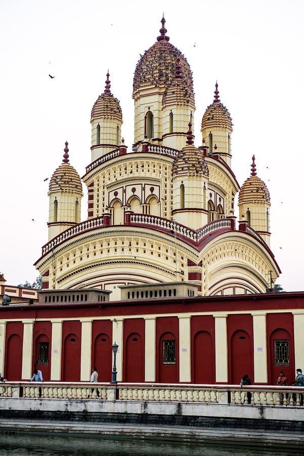 Dakshineswar卡利市寺庙在加尔各答,印度 图库摄影