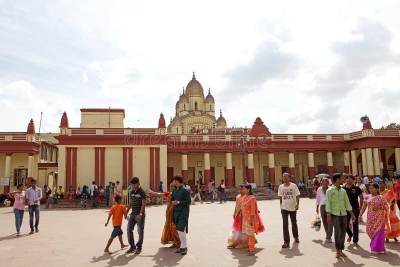 Dakshineswar卡利市寺庙,加尔各答,印度 库存图片