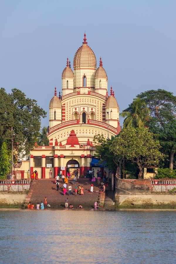 Dakshineswar卡利市寺庙 免版税库存图片