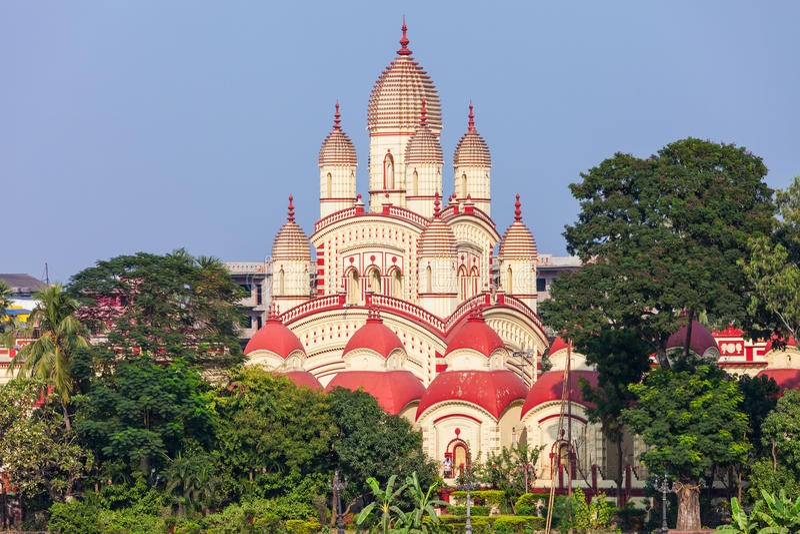 Dakshineswar Kali Temple imagens de stock