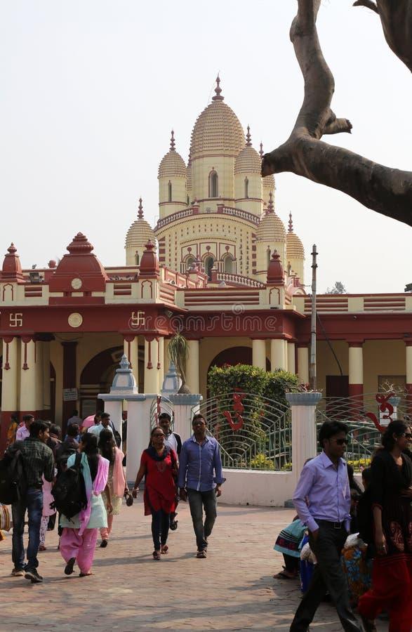 Dakshineswar Kali Temple en Kolkata foto de archivo libre de regalías