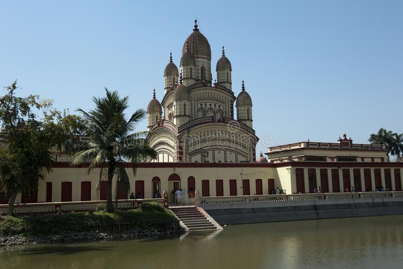 Dakshineswar Kali Temple, Kolkata, Índia imagem de stock royalty free