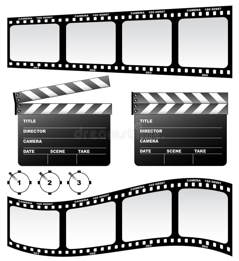 Dakspaan en film royalty-vrije illustratie