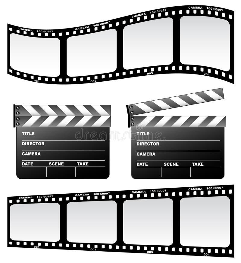 Dakspaan en film vector illustratie