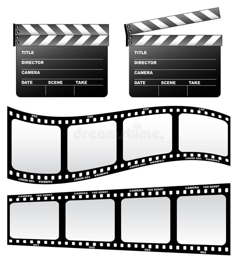 Dakspaan en film stock illustratie