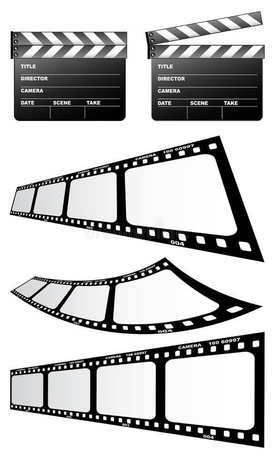 Dakspanen en film royalty-vrije illustratie