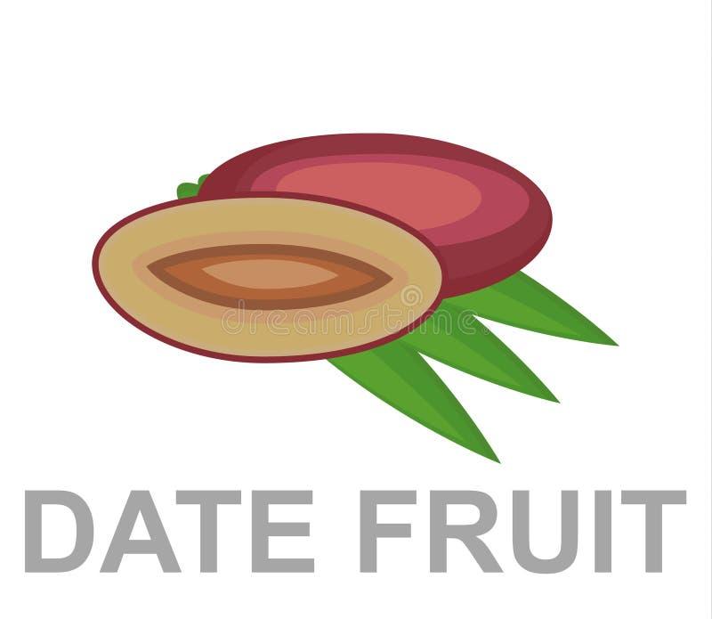 Daktylowa owocowa ikona zupełnie royalty ilustracja