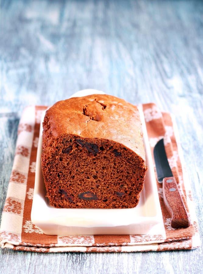 Daktylowego i czekoladowego torta bochenek obraz royalty free