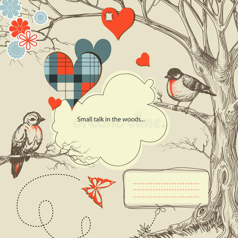 daktylowi romantyczni drewna ilustracji
