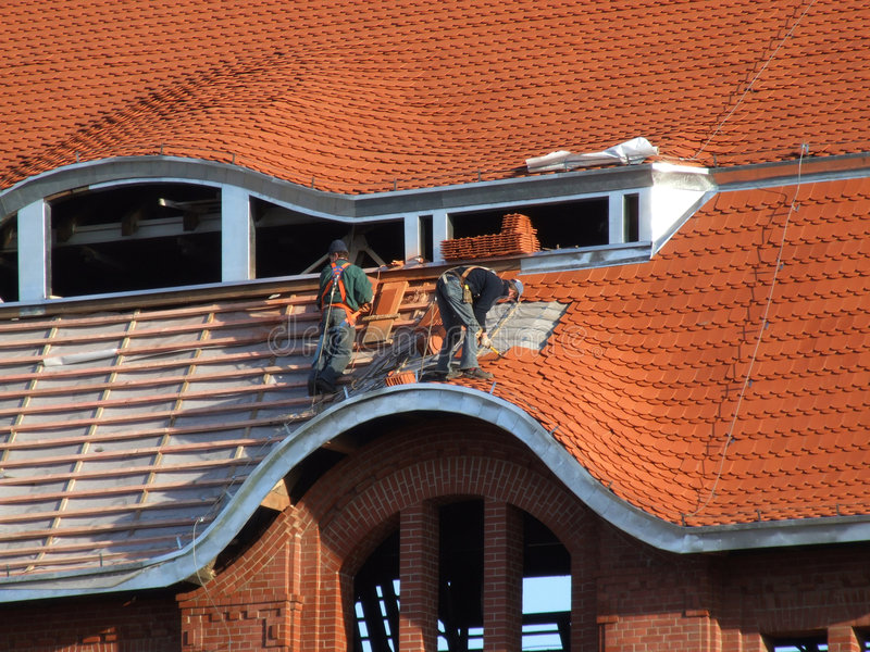 Dakwerk - dakbouw royalty-vrije stock foto