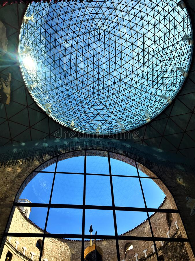 Dalì Theatre - muzeum w Figueres, Hiszpania Architektura, geniusz i sztuka, zdjęcie royalty free