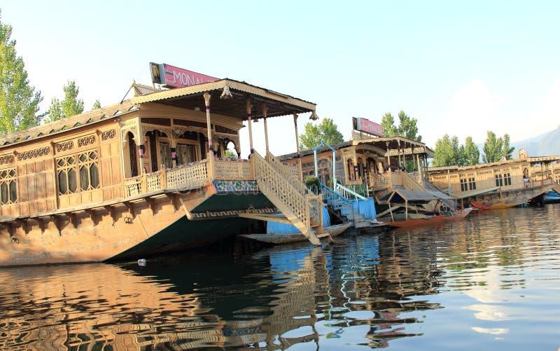 Dal湖游艇。 库存照片