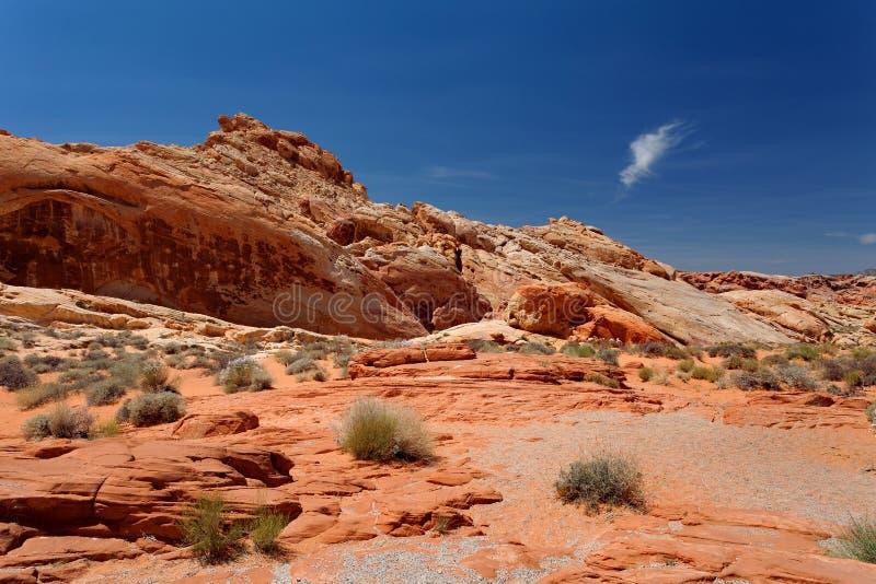 Dal av branddelstatsparken, Nevada, Förenta staterna fotografering för bildbyråer