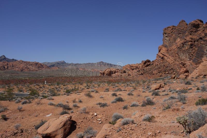Dal av branddelstatsparken (Nevada, USA) fotografering för bildbyråer