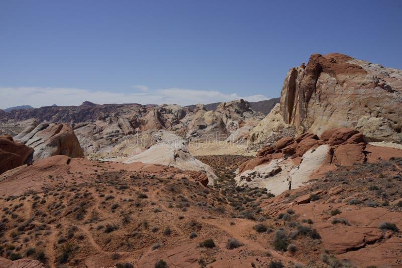 Dal av branddelstatsparken (Nevada, USA) arkivbilder