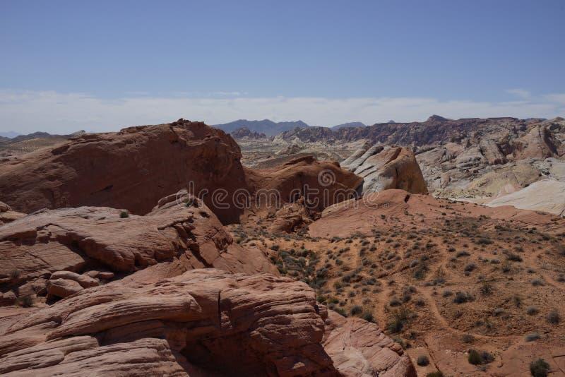 Dal av branddelstatsparken (Nevada, USA) royaltyfria bilder