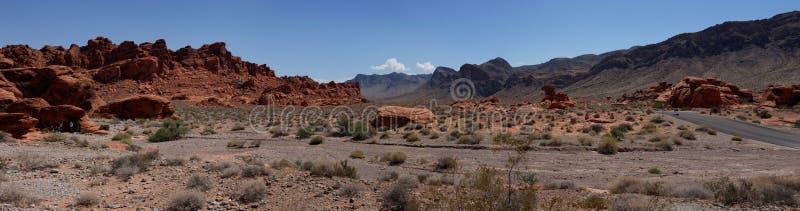 Dal av branddelstatsparkpanorama (Nevada, USA) royaltyfri foto