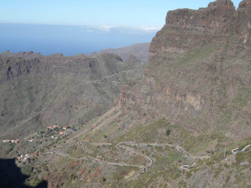 Dal av Masca på ön av Tenerife arkivfoton