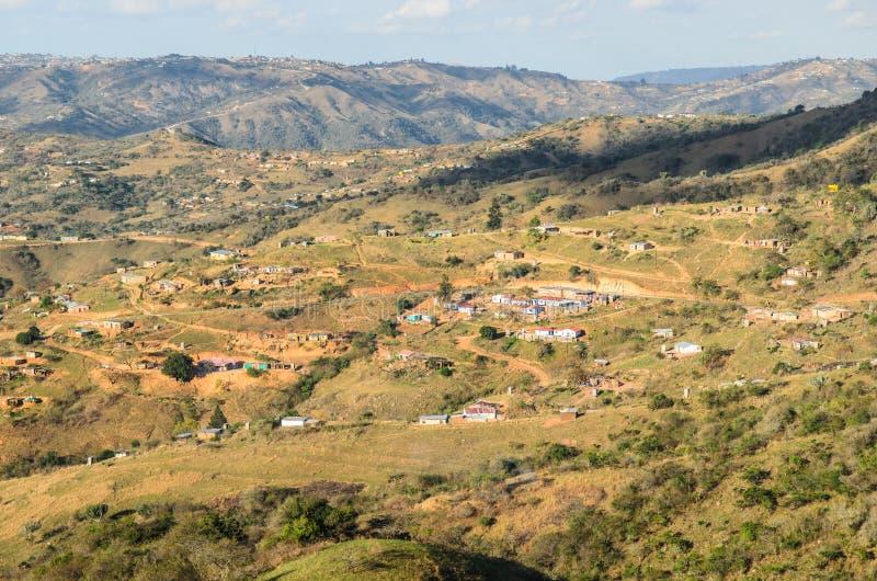 Dal av tusen kullar Apartheid för lantliga byar, afrikanskt landskap, Sydafrika royaltyfri foto
