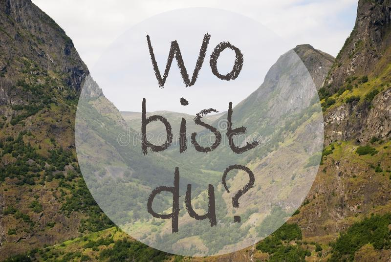Dal berg, Norge, Wo Bist Du Hjälpmedel Var är dig arkivbilder