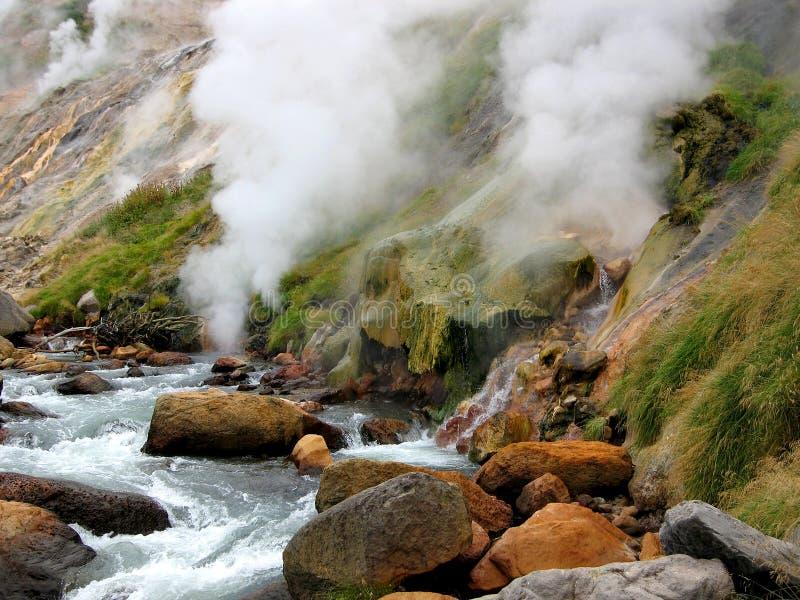 dal för 8 geysers arkivbild