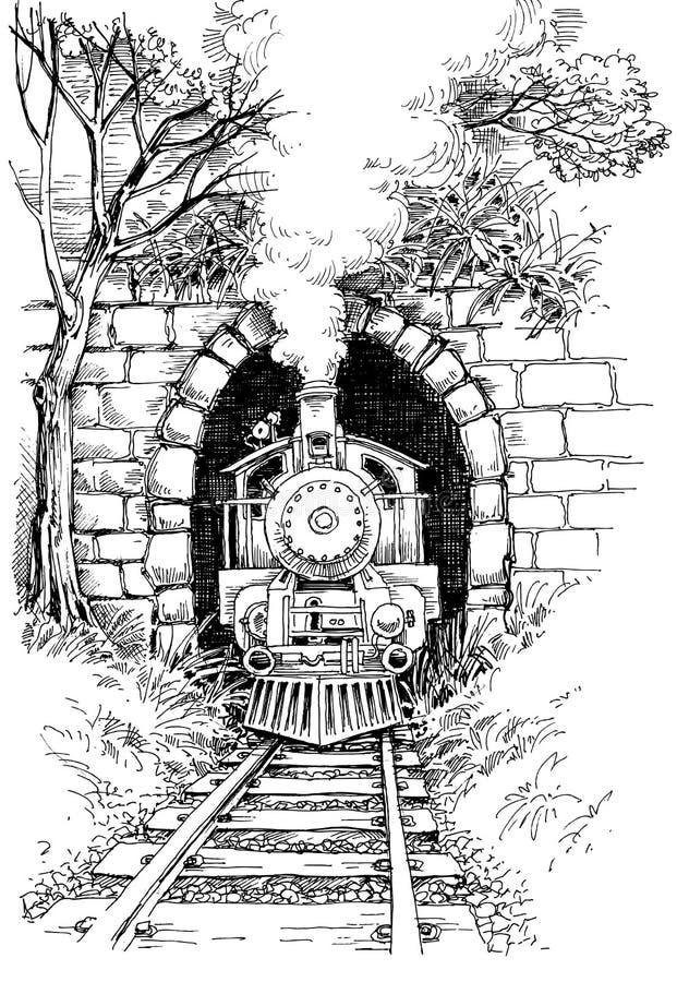 dal för england järnväg severn ångadrev royaltyfri illustrationer
