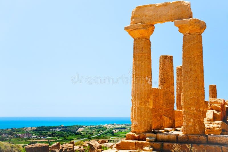 dal för tempel för junosicily tempel arkivbild