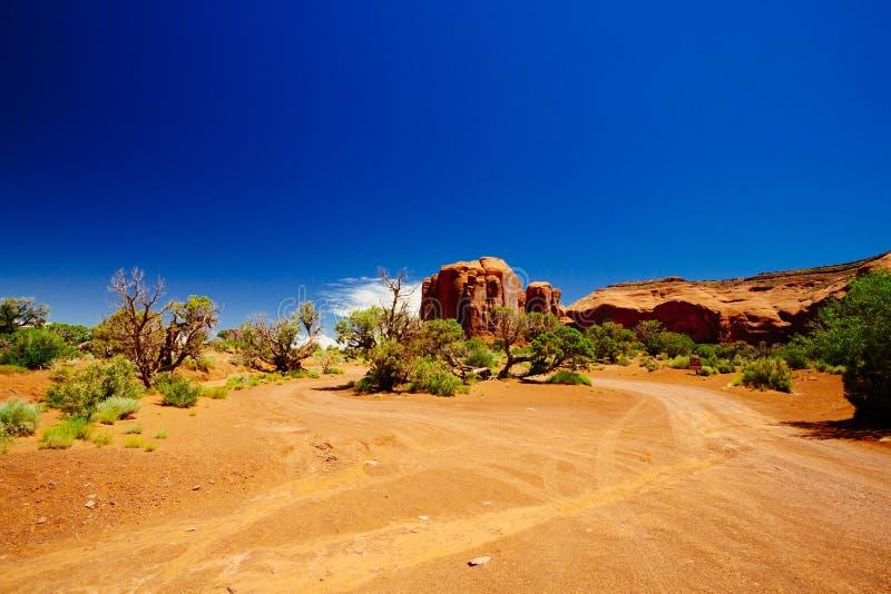 dal för USA för park för arizona monumentnavajo stam- arkivbild