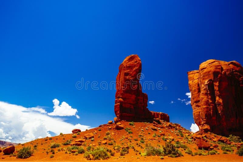 dal för USA för park för arizona monumentnavajo stam- arkivfoto