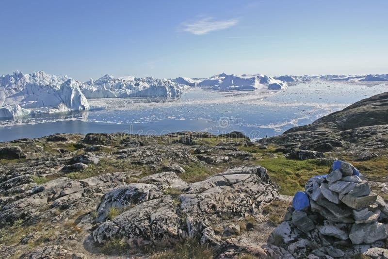 Dal fiordo del ghiaccio del Jakobshavn. immagini stock libere da diritti