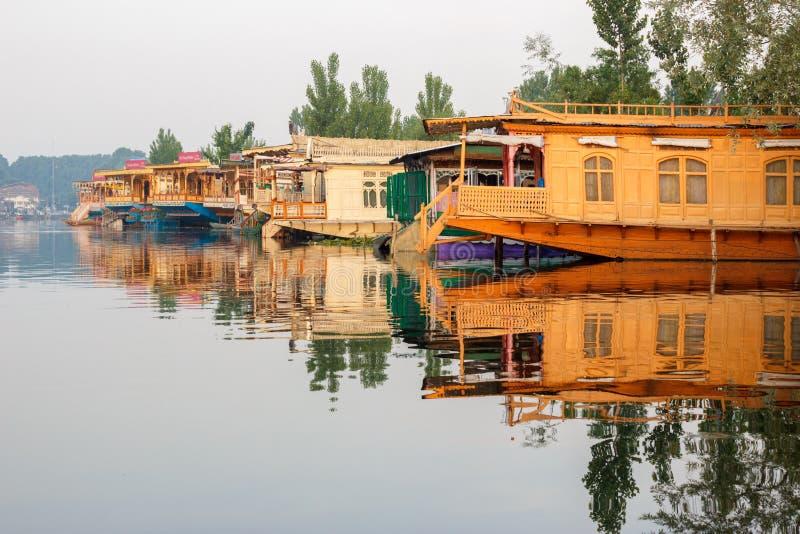 Dal jezioro, Srinagar zdjęcie stock