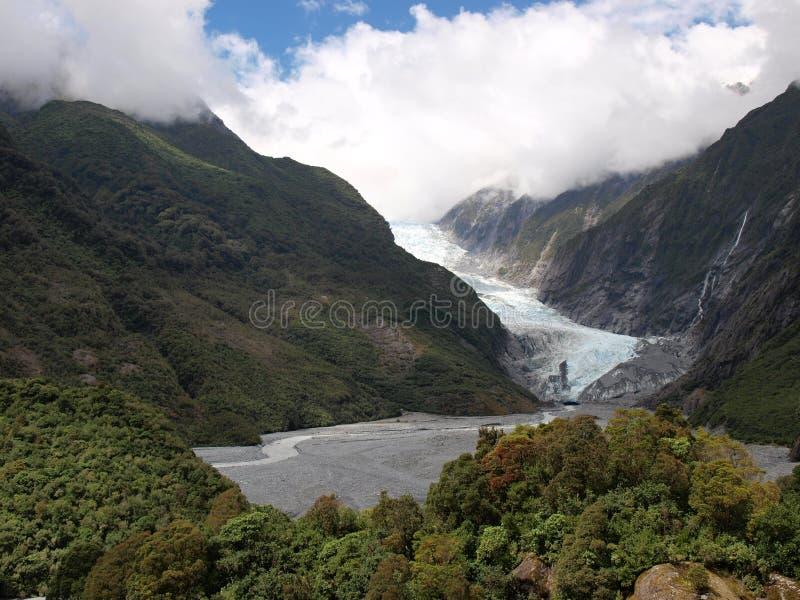 Franz Josef glaciär royaltyfria foton