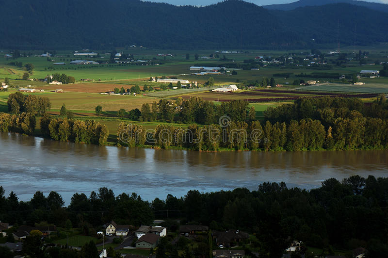 Dal och Fraser River View royaltyfri bild