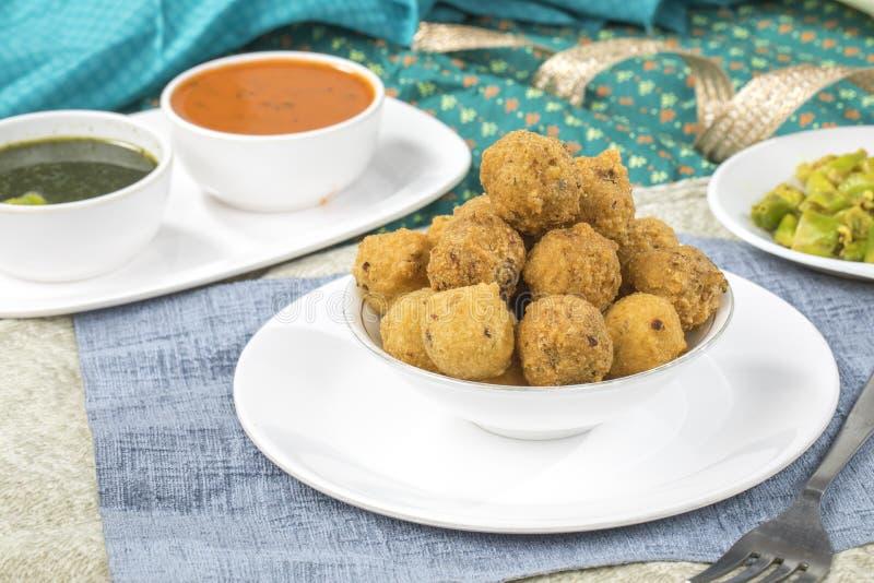 Dal Vada. Indian Street Food Dal Vada royalty free stock image