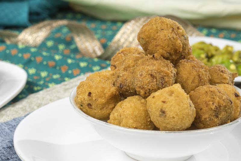 Dal Vada. Indian Street Food Dal Vada royalty free stock images