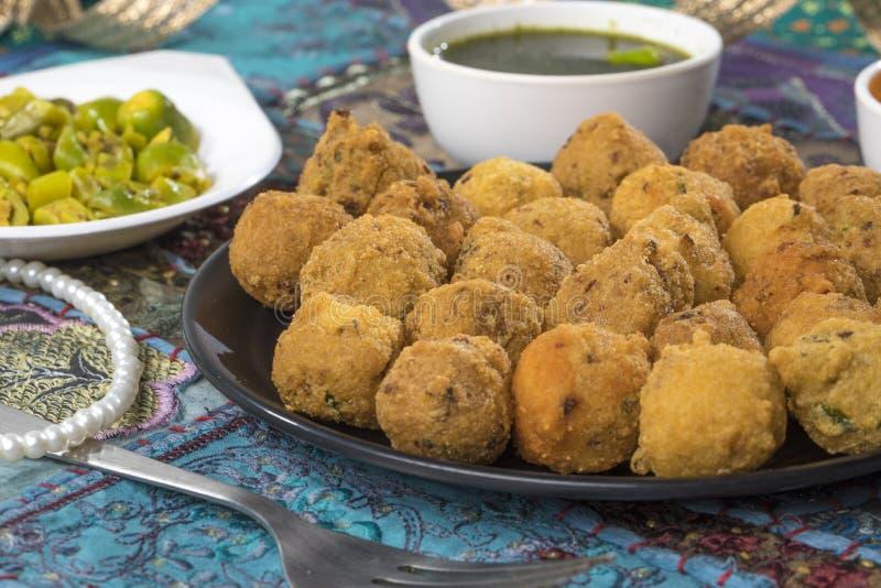 Dal Vada. Indian Street Food Dal Vada royalty free stock photos