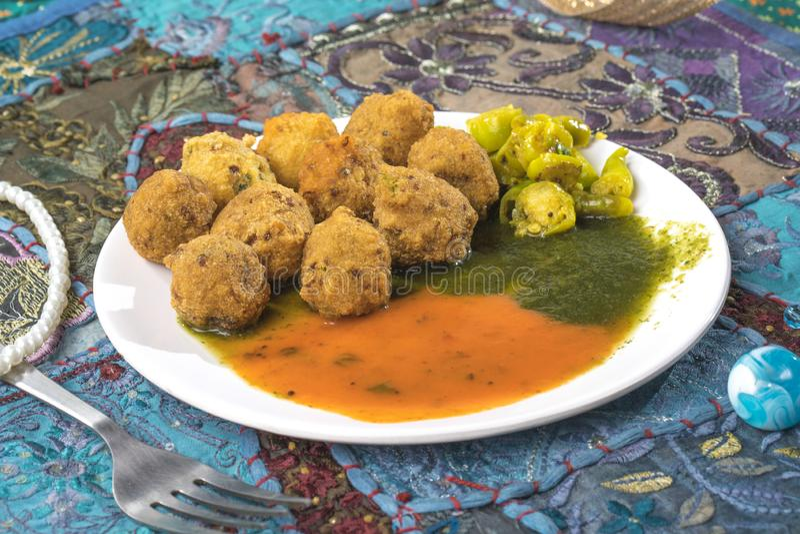 Dal Vada. Indian Street Food Dal Vada royalty free stock photo