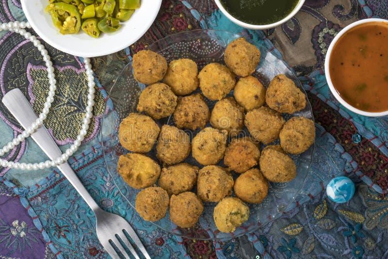 Dal Vada. Indian Street Food Dal Vada stock image