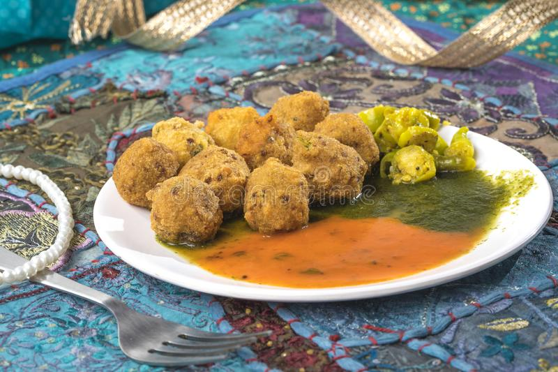 Dal Vada. Indian Street Food Dal Vada stock images