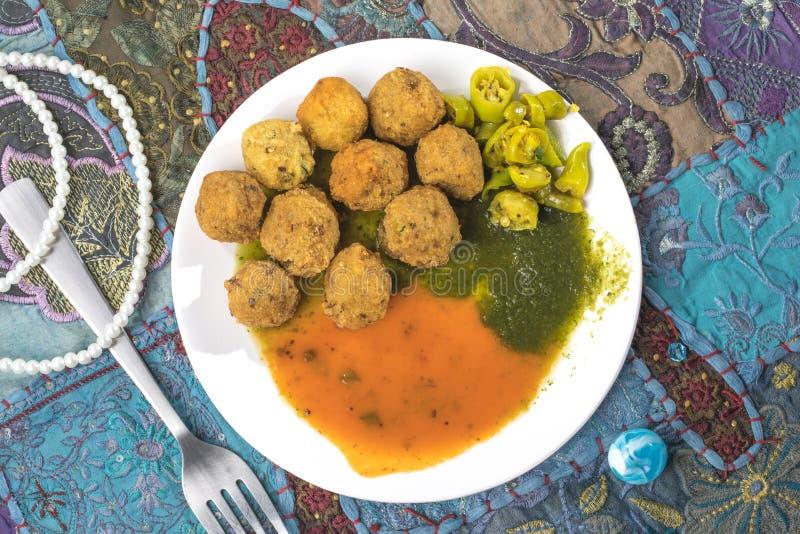 Dal Vada. Indian Street Food Dal Vada royalty free stock photography
