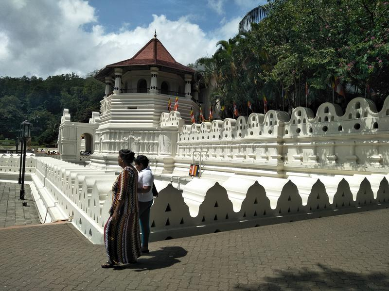 Dalada temple in Sri Lanka. This temple is Buddhist pilgrims. ti is great Valuable. it is situated is Kandy stock photography