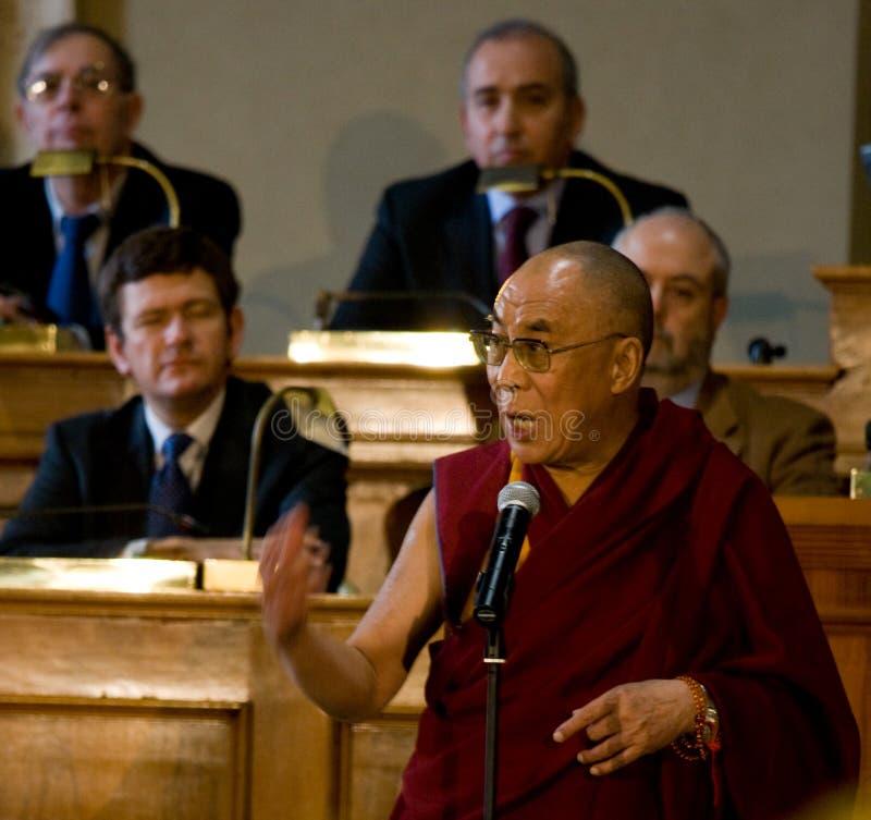 dalai他的神圣喇嘛 免版税图库摄影
