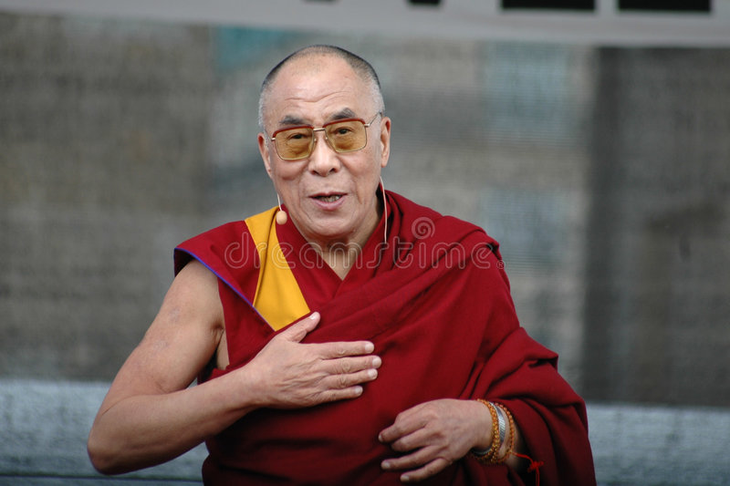 Dalai Lama. File image of 2008 royalty free stock image