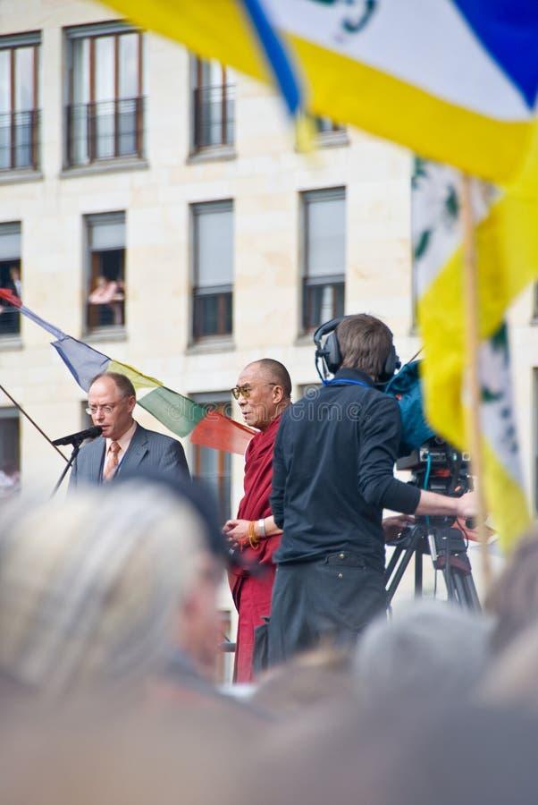 Dalai lama in Berlin stock images